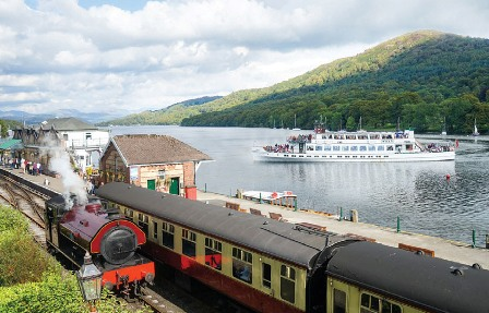 Lakeside & Haverthwaite Steam Railway & Boat Cruise